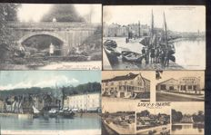 France 180 x - old and very old village and city views -