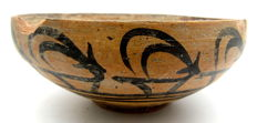Indus Valley Painted Terracotta Bowl depicting Deer -  112 x 45 mm