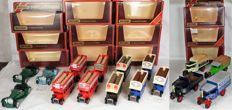 Matchbox  - Scale 1/38-1/72 - Lot with 16 models - Car brands: Jaguar, AEC Omnibus, Foden & Ford