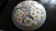 Ceiling light signed Loys Lucha