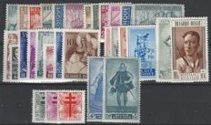 Belgium - Full years 1948 and 1949, including Blocks 26, 27 and 28 (without Bepitec sheetlet) - OBP nos. 761 through 822