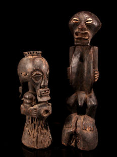 2 old Personal Power Figures KUSU & SONGYE - Congo