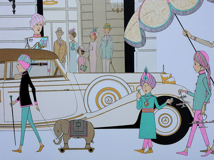 NOYER denis-Paul - Mercedes Cabriolet 770 - HOTEL RITZ PARIS