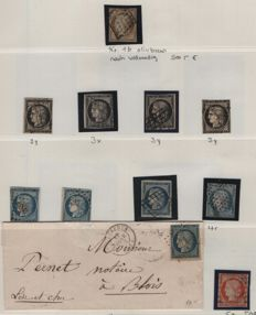 France 1849/1871 - classic collection with more than 100 stamps including Ceres 10c, Michel 1b an Napoleon 1 fr, Michel 17a