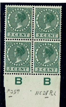 The Netherlands 1926/1927 - Selection of plate errors / variations