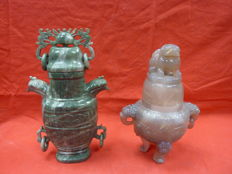 Two incense burners - China - mid-20th century