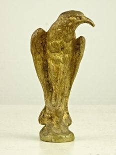 Gilt bronze wax stamp in the form of an eagle - France - second half 19th century