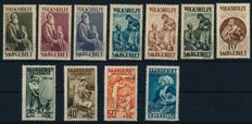 Saar area & Saarland - 1920 - 1957 - Collection in a collection book with Volkshilfe sets and 10 Fr. Madonna, Michel 134