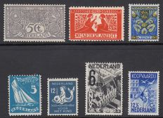 The Netherlands 1923/1933 - selection of 7 plate flaws