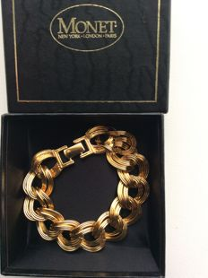 Monet gold-filled 1950/1960s bracelet, new and unused!