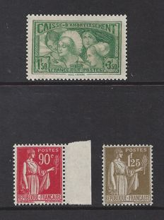 France 1931/1933 - 2 different sets - Yvert n° 269, 285 and 287
