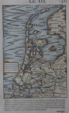 Holland; Sebastian Münster - Holand - 1552