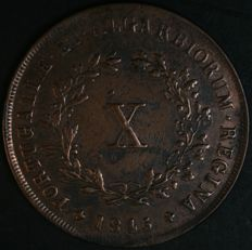 Portugal Monarchy – D. Maria II (1834-1853) – X Reis – 1845 – Copper