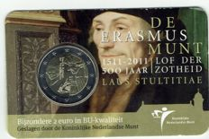 The Netherlands - 2 Euro 2011 'Erasmus' in coin card