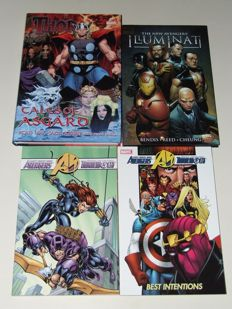 Marvel - Avengers - 2x HC with Dust Jacket (1x Oversized) + 2x TPB/sc - 1st Edition - (2004/2009)