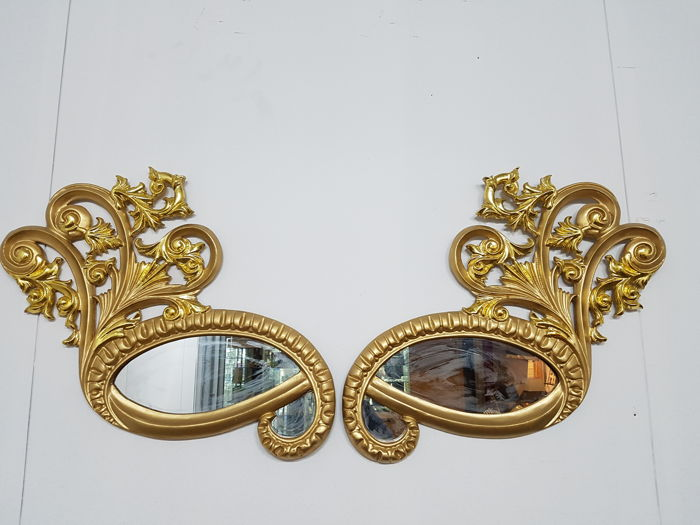 Manufacturer unknown - two mirrors in the shape of eyes, 72 cm