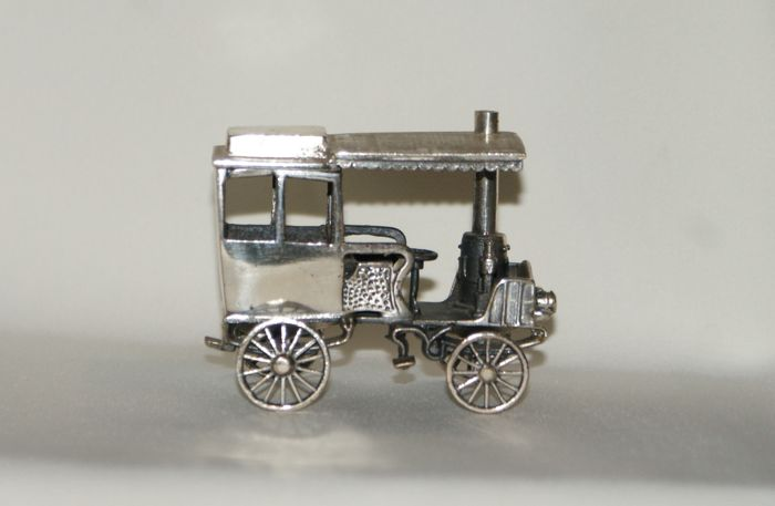 Silver miniature car, Italy, 20th century