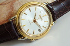 """SEIKO """"Fancy Lugs"""" 7002-8010 Goldplated Men's Automatic Watch - 1990s"""