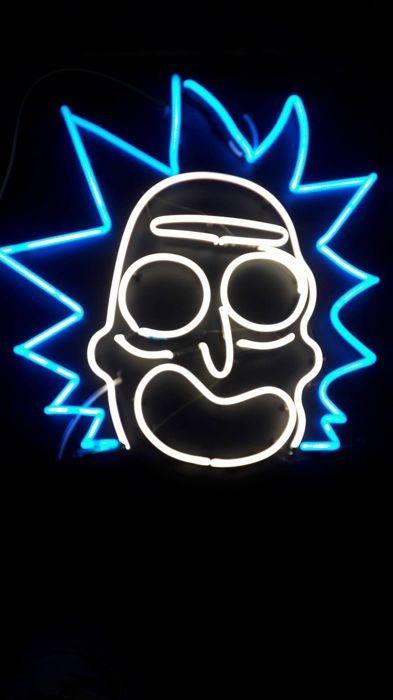 Neon sign 'Ricky & Morty'