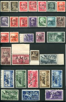 Venezia Giulia - Complete series of 31 airmail stamps from 1945-1947 Sassone no. C1