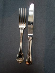 Christofle - dinner cutlery - 'Port Royal' - 2 pieces - unused / new