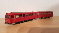 "Märklin H0 - 3016/4018 - Railbus VT795 ""Uerdinger schienenbus"" with trailer of the DB"