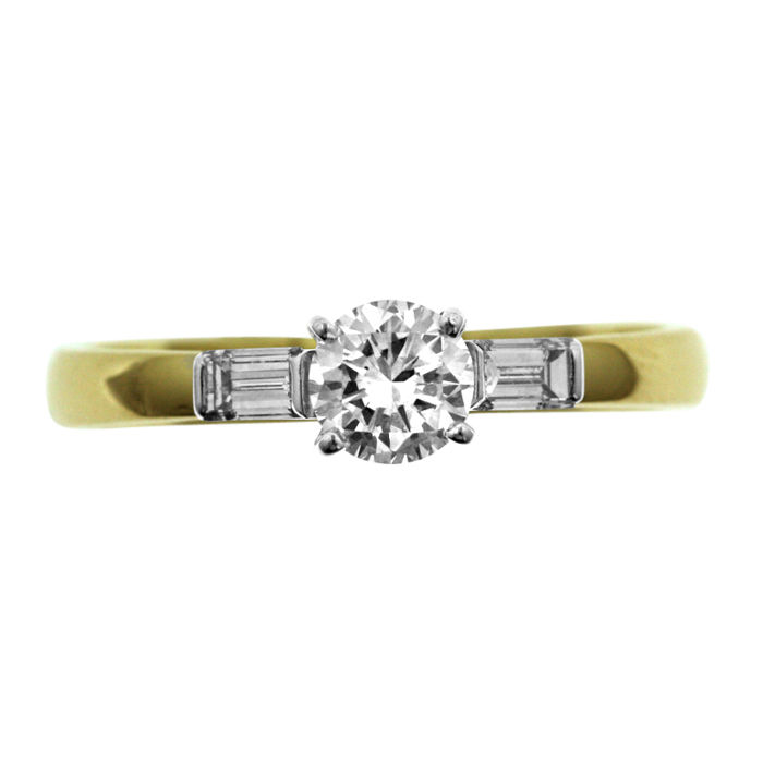 High Quality 0.70ct Diamond Ring, as new. Ring size: 59-19-R 1/2 (UK)