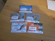 The Netherlands - 5 and 10 Euro 2014/2017 'First day issue' (5 pieces) in Coincards