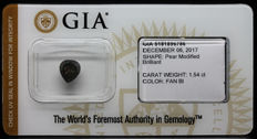 1.54 ct Certified Natural Fancy Black Diamond  - NO RESERVE