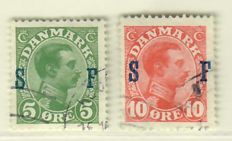 Denmark 1851/1937 - Batch on album pages and card