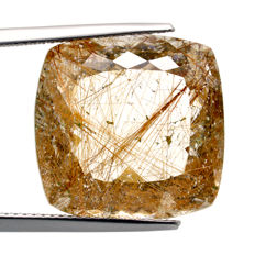 Golden Rutilated Quartz – 24.65 ct - No Reserve Price