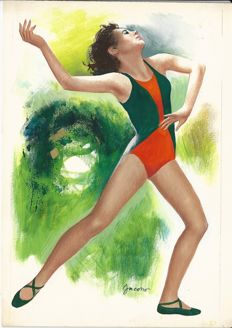 "Jacono, Carlo - original illustration ""Ginnastica Artistica"""