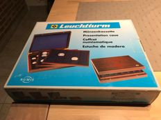 Accessories - Leuchtturm luxury wooden coin box with 3 layers plus capsules