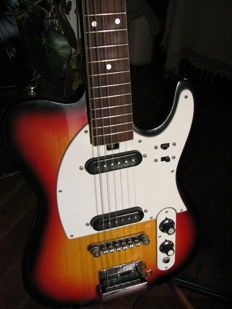 electric guitar Teisco, Zenta telecaster shape made in Japan 1960's / 70's