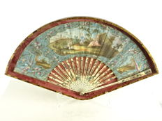 Hand painted fan - France - late 18th century