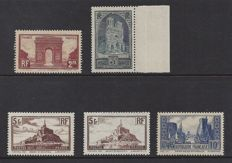 France 1929/1931 - monuments and sites - Yvert 258/261
