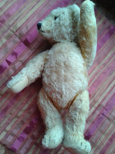 Old teddy bear - approx. 1955 or older - Fully moveable - Origin possibly Switzerland