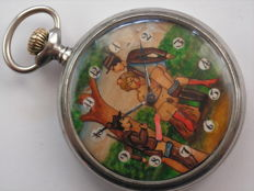 Doxa - erotic pocket watch  - Masculin - 1901-1949