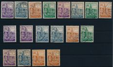 Soviet Zone - 1946 - Leipzig fair perforated and cut  Michel 162-65 A/B/Z