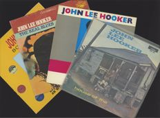 "Lot of four great John Lee Hooker blues albums incl. ""House of the blues"", ""Boogie awhile"" his ultimate collection on 2LP, ""This is hip"" and ""The real blues"""