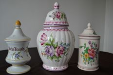Clamecy - Lunéville st Clement and tradition Moustiers - 3 jars with lids