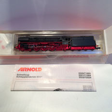 Arnold N - 2513 - locomotive with towed tender BR01 of the DR, oil tender