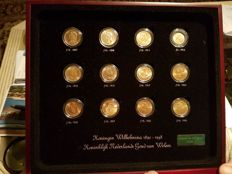 The Netherlands - 10 guilder 1897/1933 'Gold tenner collection Queen Wilhelmina 1890–1948', 12 coins - gold