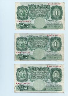 Great Britain - 30 x 1 Pound ND(1948-1960) - Pick 369b and 369c - Signed by either L.K. Obrien or D.S. Beale
