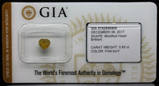 0.95 ct Certified Natural, Fancy Br. Orangy Yellow Diamond  - NO RESERVE