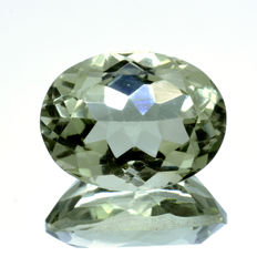 Green Amethyst (Prasiolite) - 9.78 ct - No Reserve Price