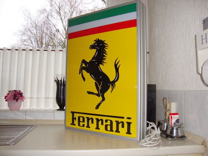 Ferrari light advertising / illuminated Lightbox - Late 20th century ...