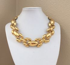 Givenchy vintage gold plated heavy chain necklace Paris 1975-1980