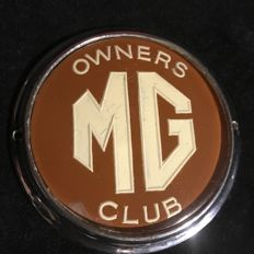 MG Car Club original Badge - Shield, Beaulah - England circa 1970s