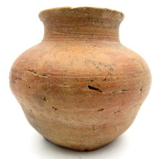Indus Valley Painted and Terracotta Jar depicting Deer -  100 x 93 mm